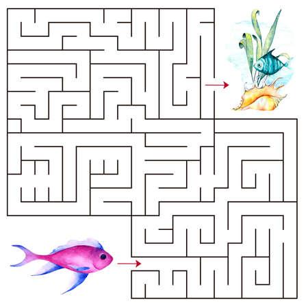 Kids maze.Educational a mathematical game. Zdjęcie Seryjne - 128723111