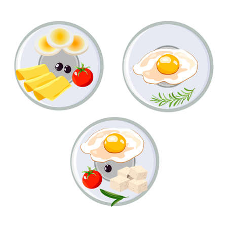 Concept for breakfast menu, cafe, restaurant. Logo design template. Food background.Cheese and eggs Stok Fotoğraf