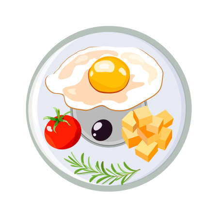 Concept for breakfast menu, cafe, restaurant. Logo design template. Food background.Cheese and eggs Zdjęcie Seryjne
