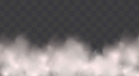 White vector cloudiness ,fog or smoke on dark checkered background.