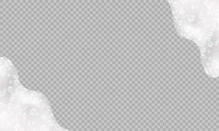 Shampoo bubbles texture.Sparkling shampoo and bath lather vector illustration. Ilustracja