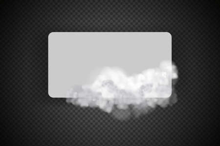 Cloudy sky or smog over the city.Vector illustration.