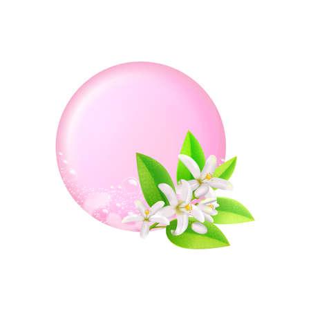 Bar of soap.Realistic vector illustration.Shampoo bubbles texture.