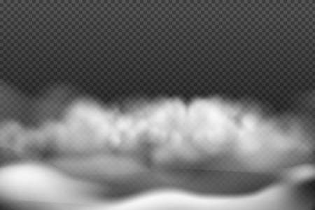 White vector cloudiness, fog or smoke on dark checkered background.