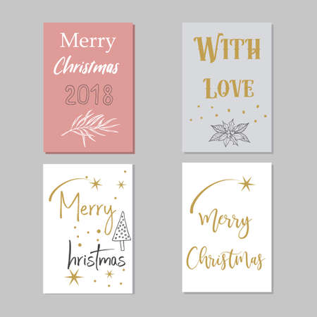 A set of New Year cards.