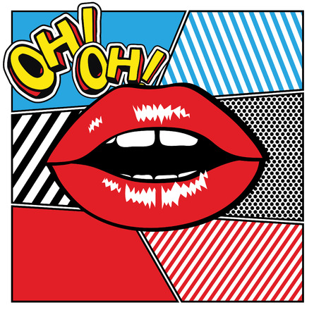 hot lips: Pop art lips