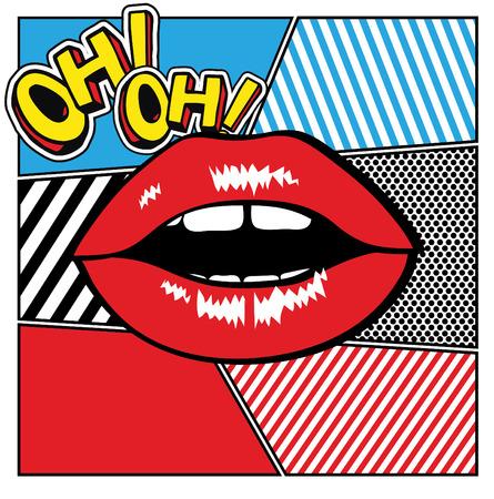 pop background: Pop art lips