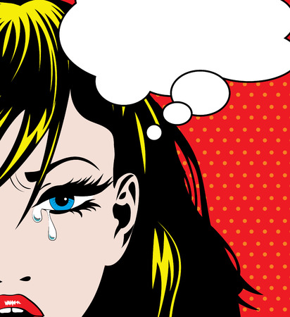 sexy girls: Pop art crying girl