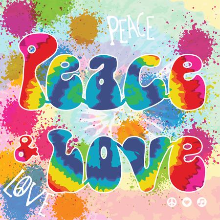 dye: Peace and love tie dye