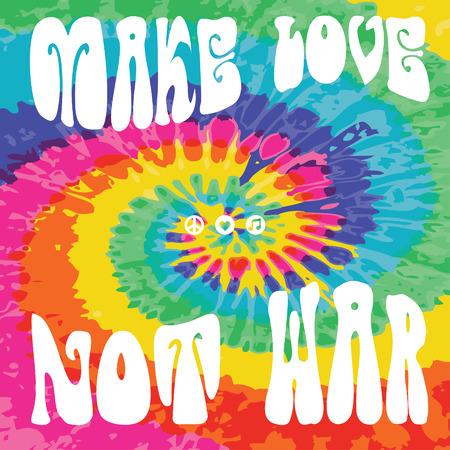 faire l amour: Faites l'amour pas la guerre cravate colorant Illustration