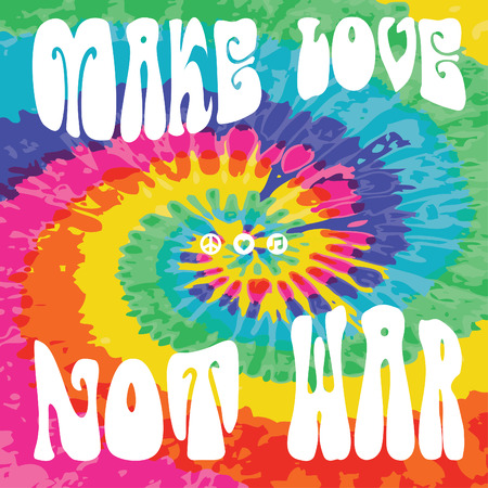 Make love not war tie dye