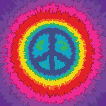 Tie dye peace symbol