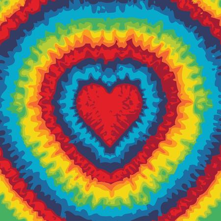hippie: Tie dye heart