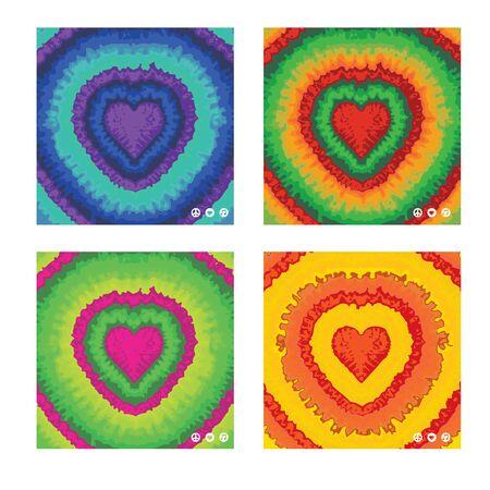 dye: Tie dye hearts