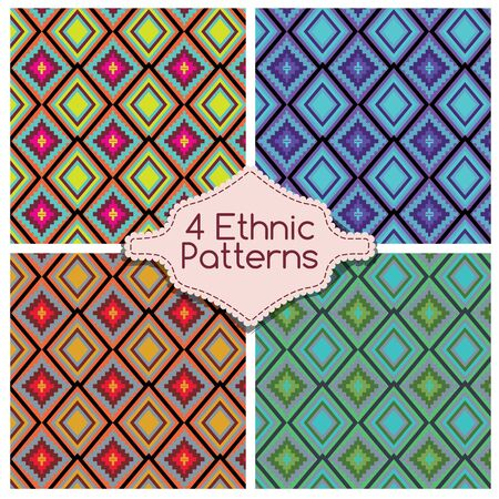 tribe: Four ethnic tribe patterns