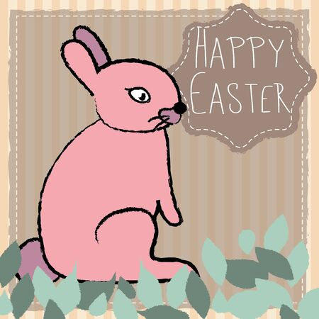 lovable: Hand drawn Easter bunny