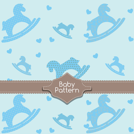 rocking horse: Baby rocking horse pattern template