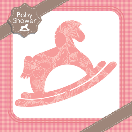 rocking: Baby shower rocking horse pattern