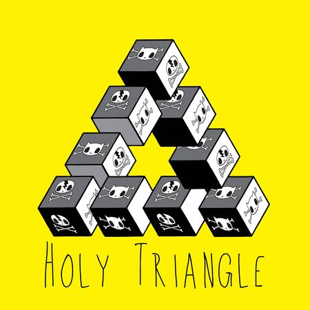 never ending: Holy triangle illustration