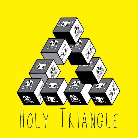 never ending: Holy triangle illustration