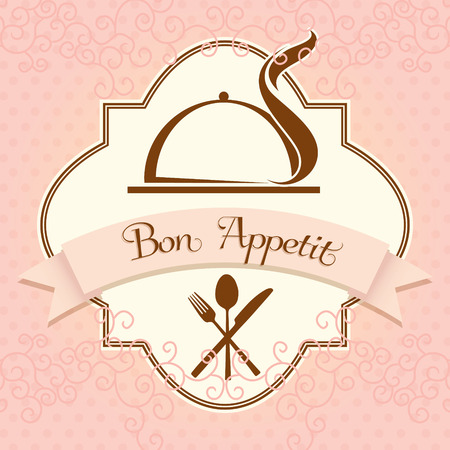 bon: Bon appetit vector template Illustration