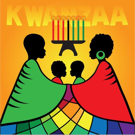 Kwanzaa greeting card template