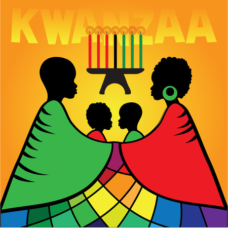 Kwanzaa greeting card template