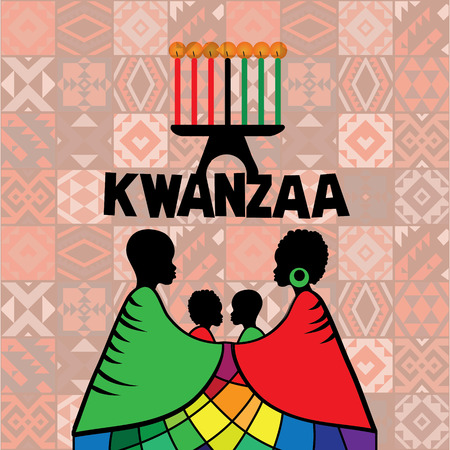 black men: Kwanzaa greeting card template