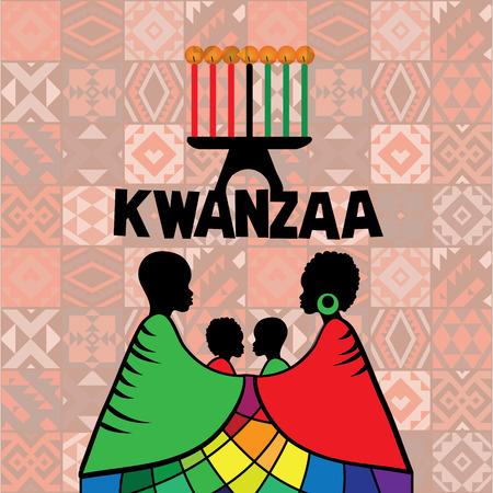 Kwanzaa wenskaartsjabloon Vector Illustratie