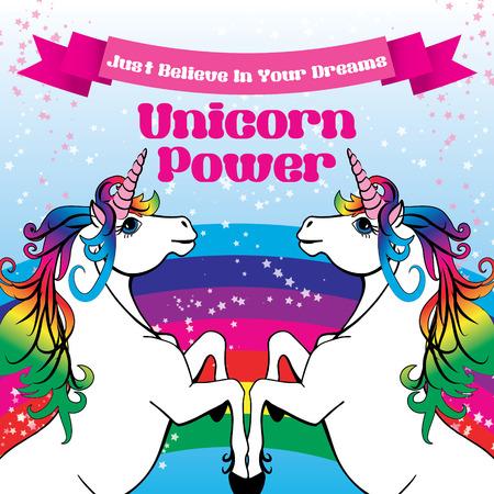 Unicornio creen en sus sueños vector