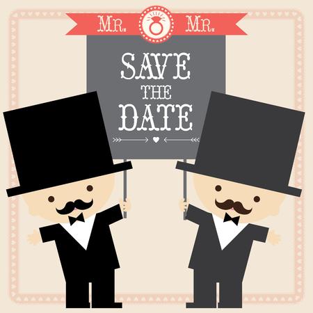 wedding couple: Wedding couple card template