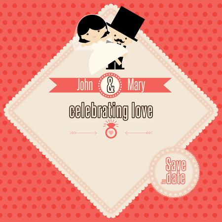 wedding: Wedding couple vector template Illustration