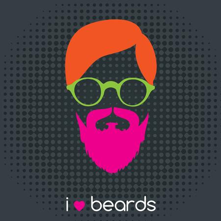 arte moderno: la moda la barba del inconformista Vectores
