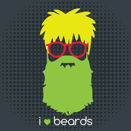 hombres negros: Hipster beard fashion