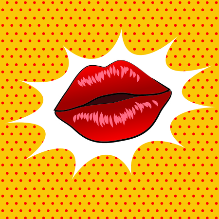 Retro lips pop art