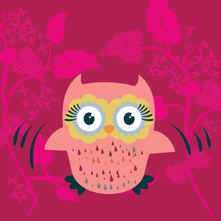 cute cartoon: Cute cartoon owl vector