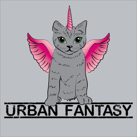 lovable: Urban fantasy - cute unicorn cats