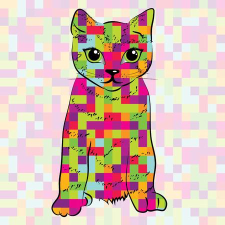 Pixel patterned cat
