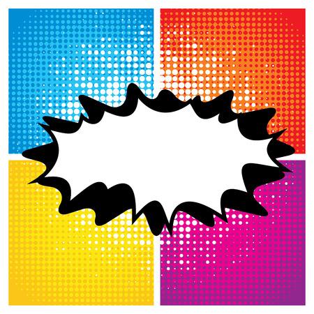 pop background: Pop art comic style with empty speech bubble