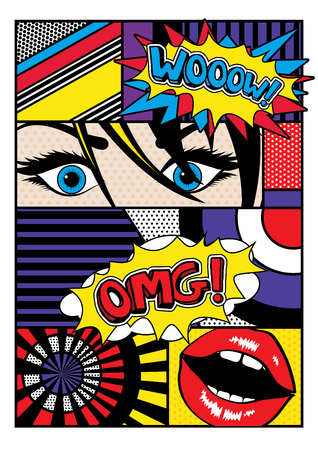 sensual: Pop art comic style Illustration