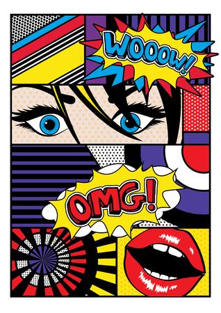 Pop art komische stijl