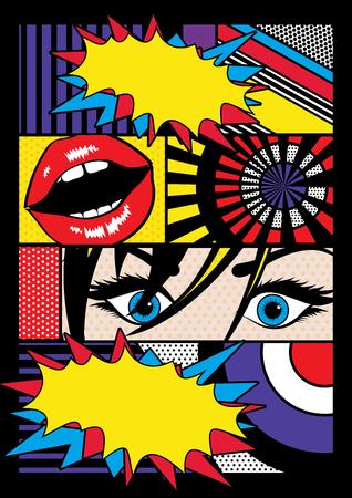 estilo cómico del arte pop con bocadillo