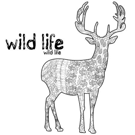 Wild life dear shaped pattern