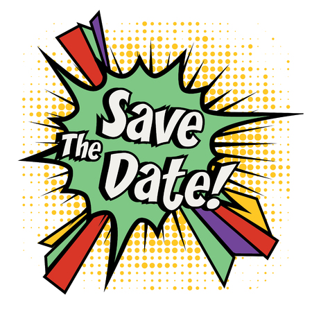 Save the date Pop-Art Standard-Bild - 51191128