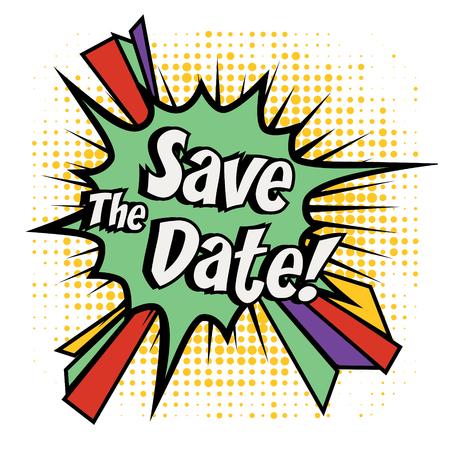 date: Save the date pop art