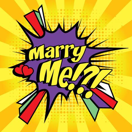 wedding  art: Marry me pop art