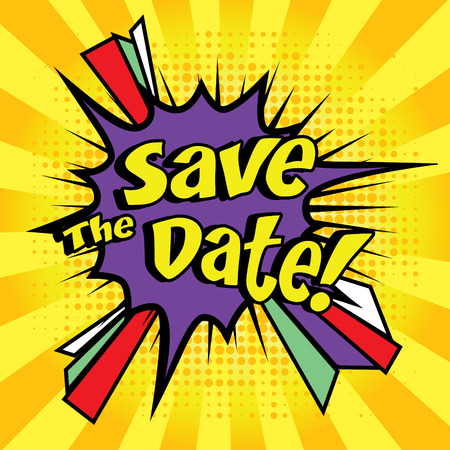 creative arts: Save the date pop art