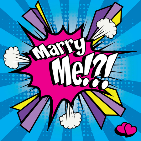 creative arts: Marry me pop art