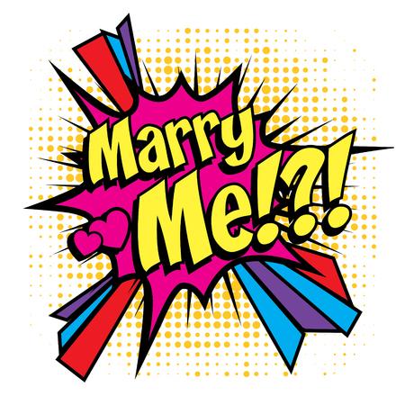 me: Marry me pop art