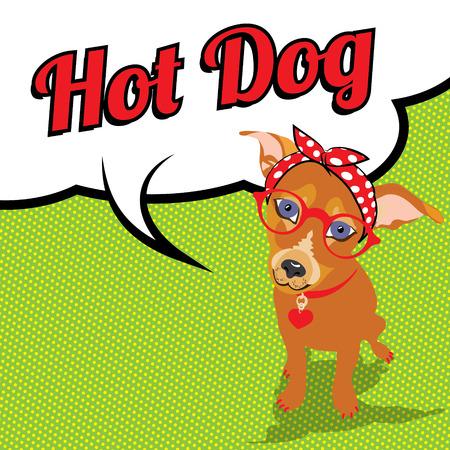 wow: arte pop del perro del inconformista